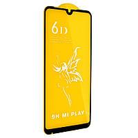 Защитное стекло Premium 6D для Xiaomi Mi Play Черный