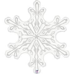 Фол шар фигура Новый год Снежинка белая (Грабо)