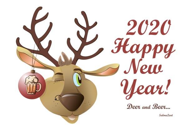 "Байкерская чашка ""Deer and Beer"" 2020"