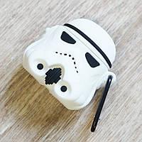 Силиконовый чехол для Apple AirPods (чехол+карабин) (storm trooper star wars)