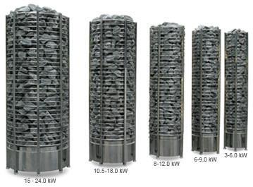 Електрична кам'янка для сауни Sawo Tower Heater (вежа) TH5-90NS