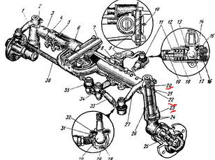 Бортовая передача, передний мост и др. ЮМЗ-6
