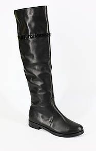 Модные молодежные кожаные зимние сапоги на маленьком каблуке