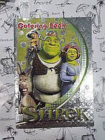 Расскраска детская А5   Shrek , белый  фон, наклейки