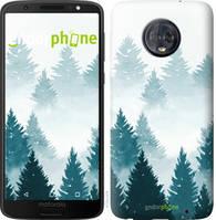 """Чехол на Motorola Moto G6 Plus Акварельные Елки """"4720u-976-535"""""""
