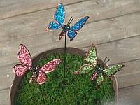 """Декор для горшков, растений """"Бабочка маленькая"""" 54 см."""
