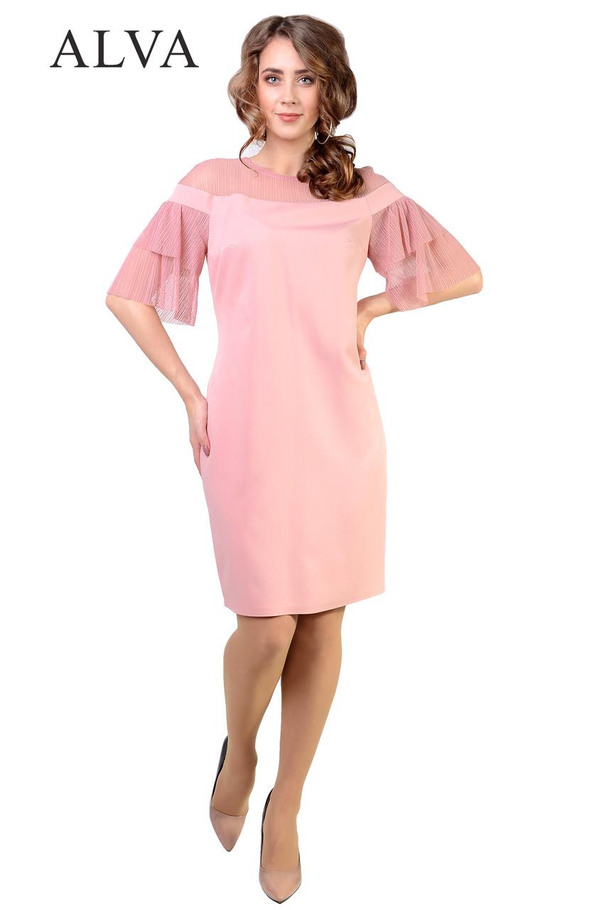 Платье с воланами на рукавах.Разные цвета