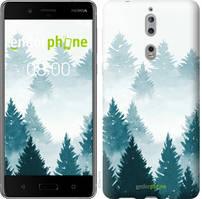 """Чехол на Nokia 8 Акварельные Елки """"4720u-1115-535"""""""