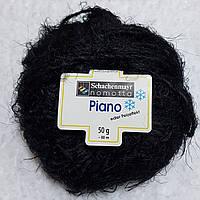 Пряжа шерсть альпака черного цвета
