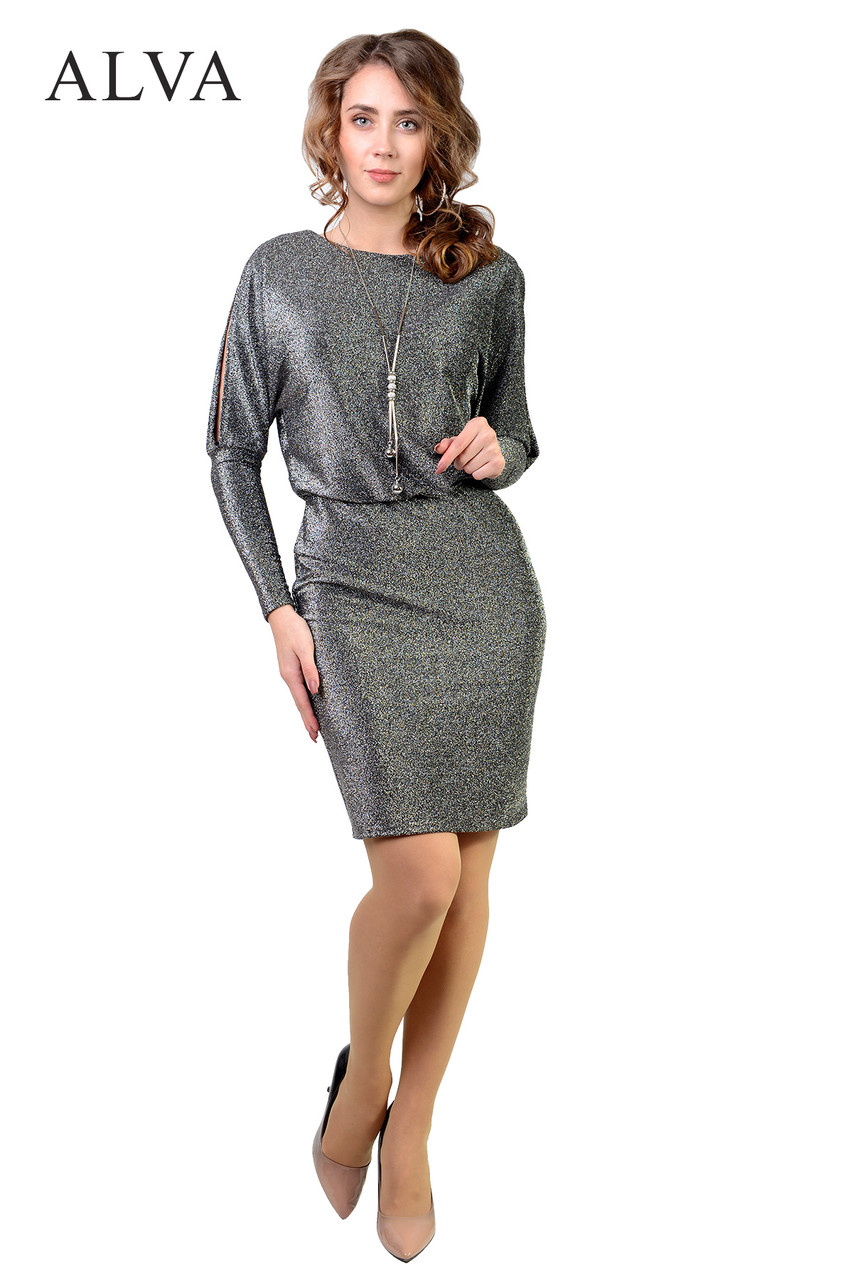 Восхитительное платье из люрекса, разного цвета.