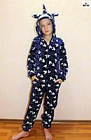 Комбінезон махровий единорг дитячий шиншила, єдинорг Міккі Маус теплий кигуруми р. 34-40