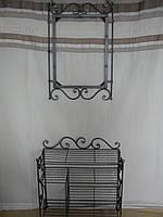 Кованый набор мебели в прихожую  -  010