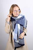 Большой платок с люрексом Джерси, синий 140 см