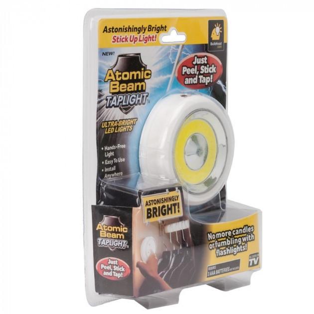 Светодиодный светильник автономный LED кнопка ночник 3хААА Atomic Beam TAP LIGHT