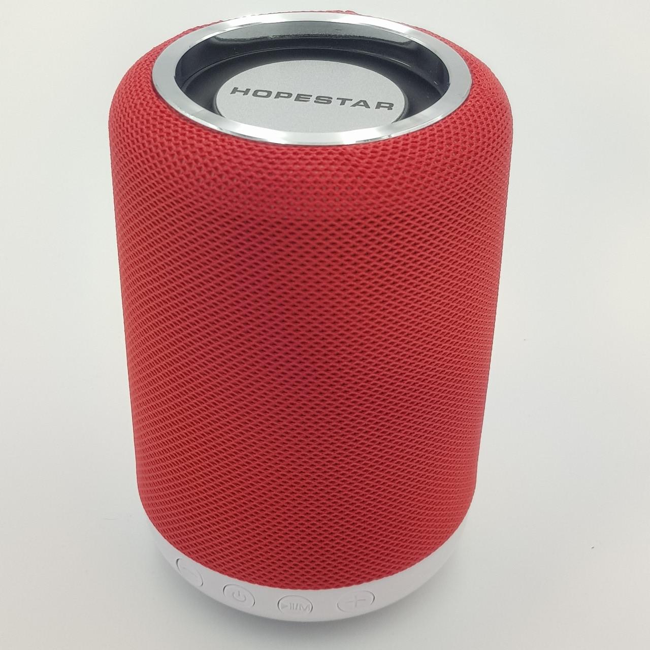 Беспроводная аккумуляторная колонка Bluetooth акустика FM MP3 AUX USB Hopestar H34 красная
