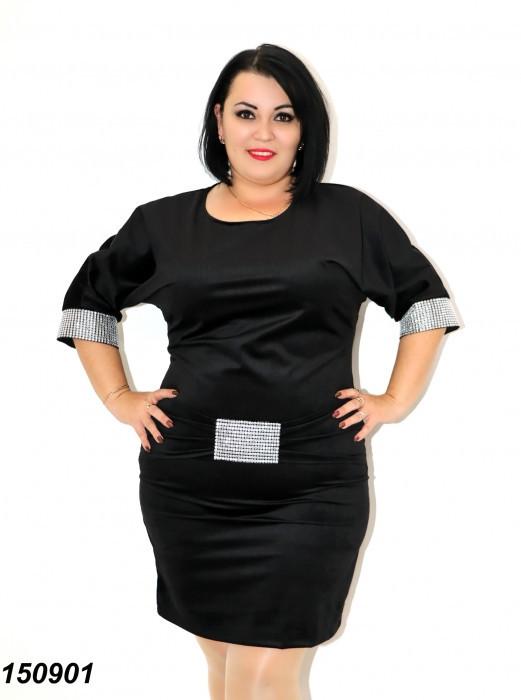 Платье черное вельветовое с камнями,летучая мышь 48 50 52,54,56