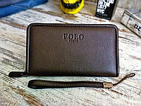 Портмоне (гаманець, клатч) Polo Поло коричневий (репліка), фото 1