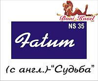 """""""Судьба"""" трафаретная надпись  №-NS35"""