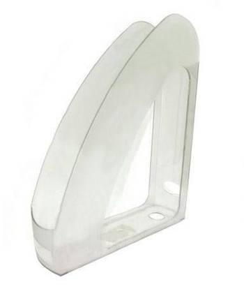 """Лоток для бумаг вертикальный с передней стенкой """"Радуга"""" Economix, пластик, прозрачный"""