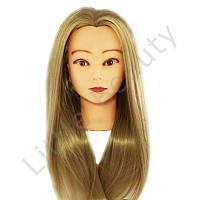 Учебная голова для моделирования причесок, светло русая, искусственный волос.