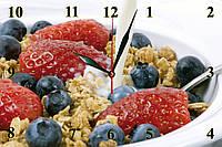 """Настенные часы МДФ кухонные кварцевые """"Ягодный десерт"""", фото 1"""