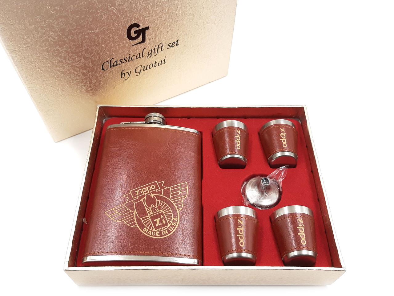 Набір фляга з неіржавіючої сталі в подарунковій коробці