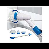Беспроводная универсальная электрическая щетка швабра для уборки Spin Scrubber Smart с 3 насадками
