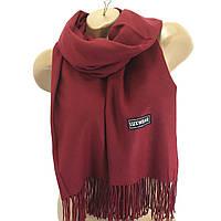 Женский кашемировый шарф LuxWear Бордовый