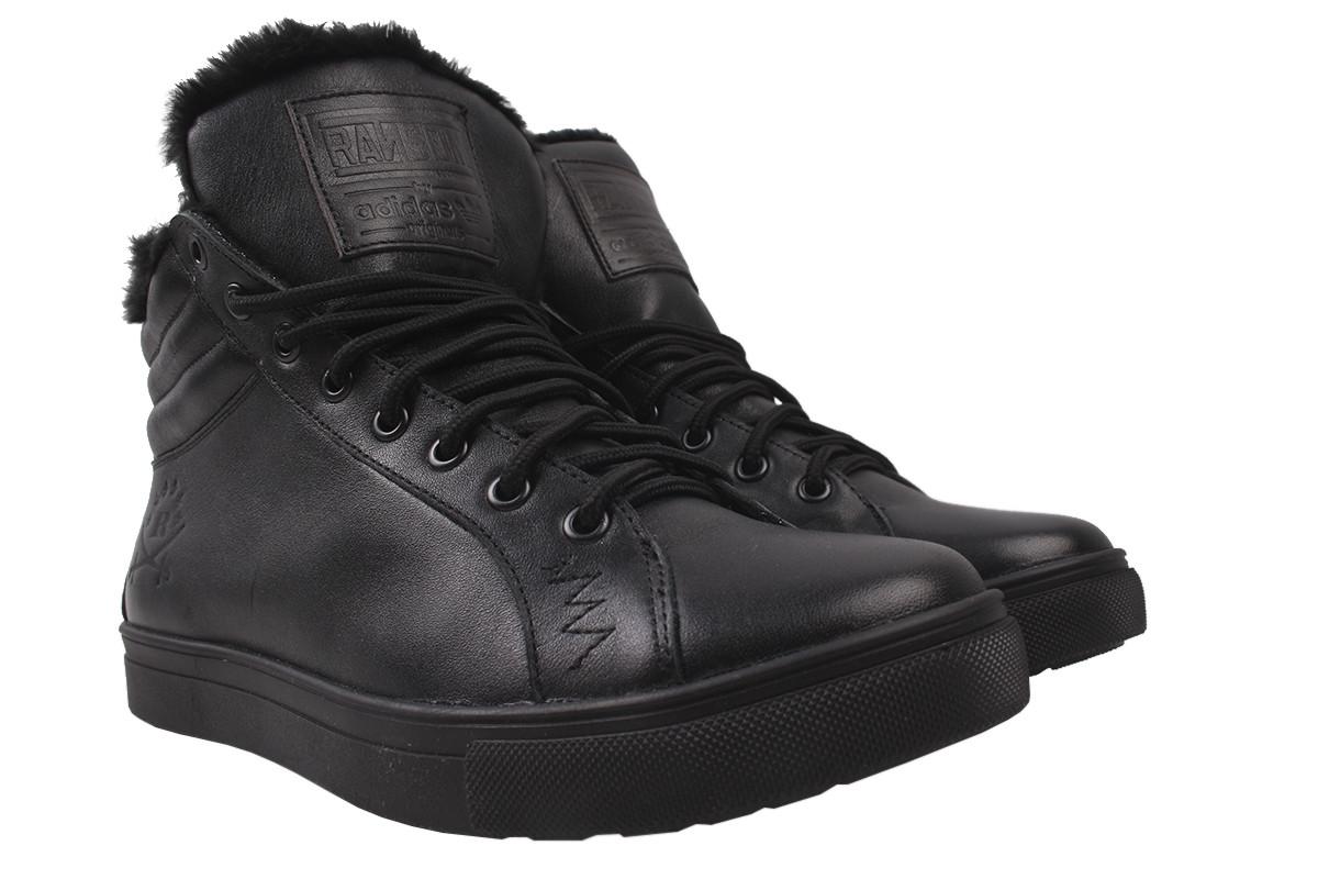 Ботинки мужские зима New Man натуральная кожа, цвет черный, размер 40-45, Украина
