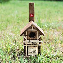 Скворечник для птиц «Швейцария» 25 см D9021