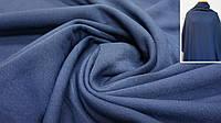 Теплая ткань футер (трехнитка) с начесом темно-синий, фото 1
