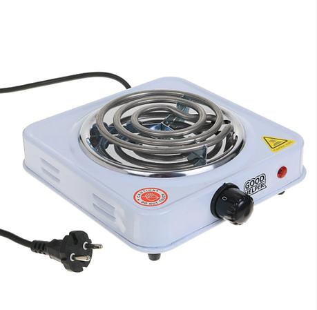 Настольная электрическая плитка на 1 конфорку спираль 1000 Вт Rainberg RB555, фото 2