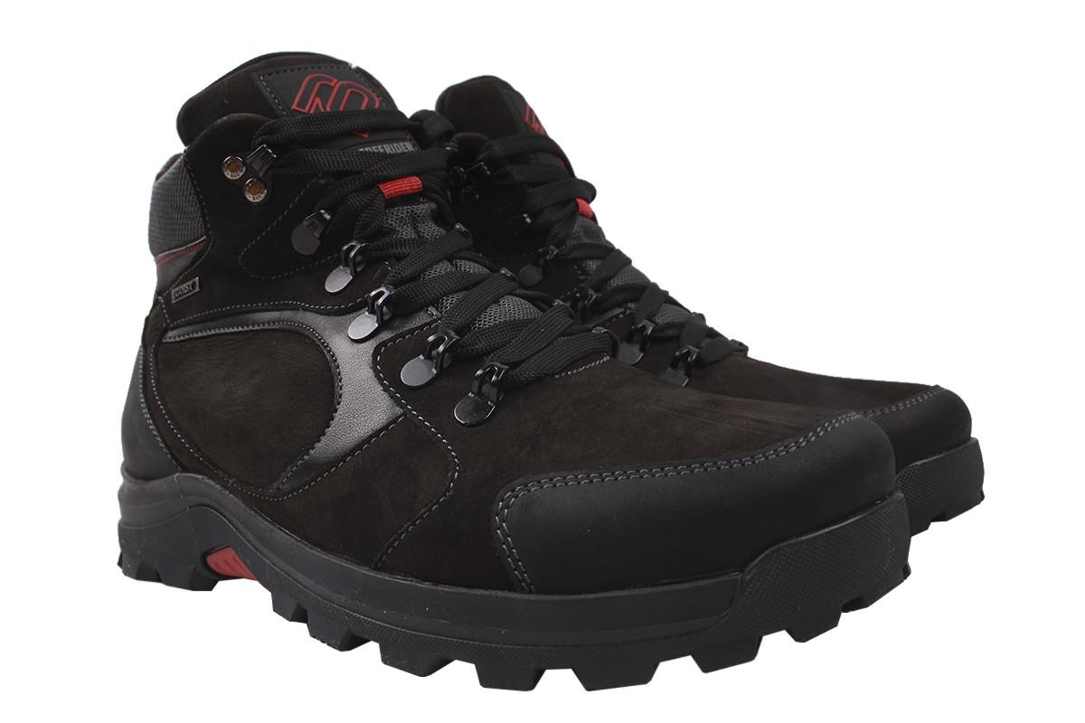 Ботинки мужские зима Brave нубук, цвет черный, размер 40-44, Украина