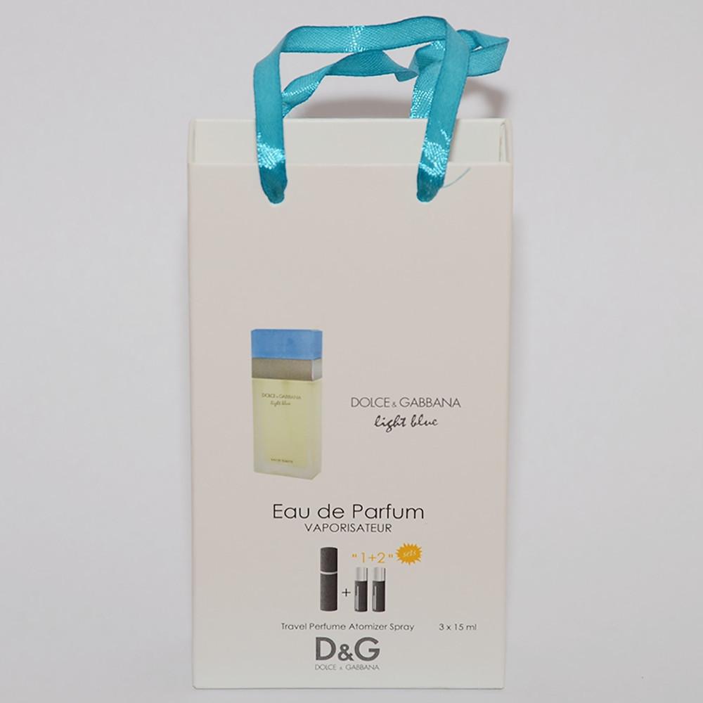 Light Blue Dolce and Gabbana мини парфюмерия в подарочной упаковке3х15ml (реплика)