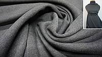 Теплая ткань футер (трехнитка)  с начесом графит, фото 1