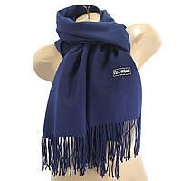 Женский кашемировый шарф LuxWear Темно-синий