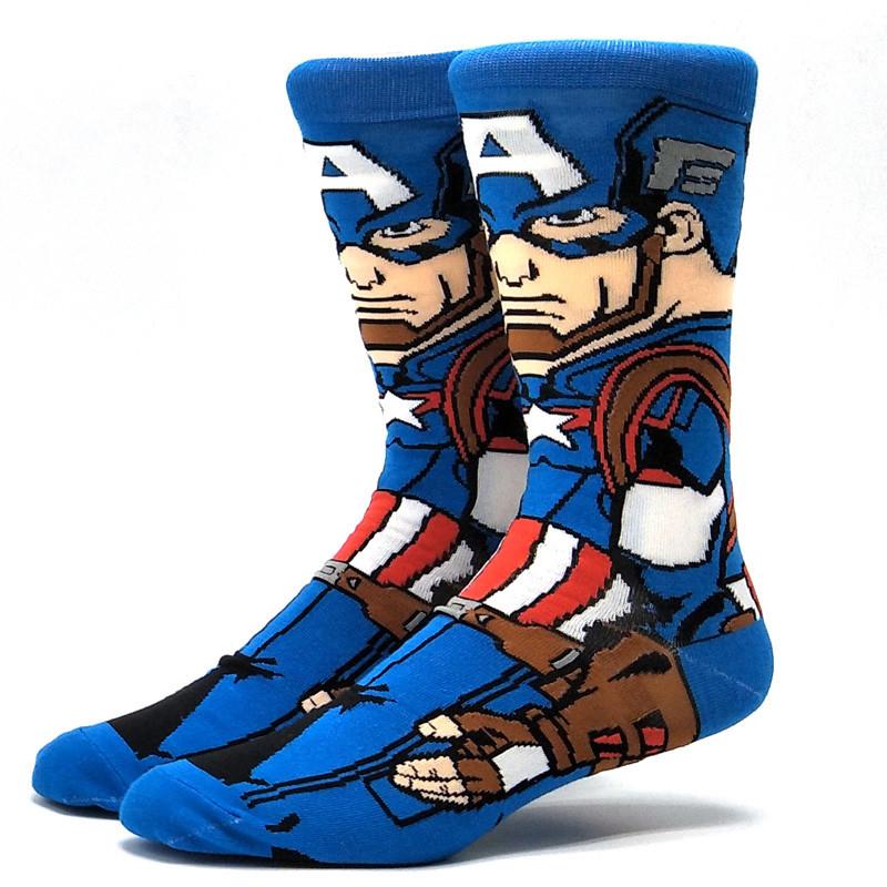 Высокие мужские носки Капитан Америка