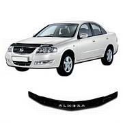 Дефлектор капота  Nissan Almera Classic c 2006,  Мухобойка  Nissan Almera Classic