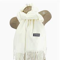 Женский кашемировый шарф LuxWear Белый