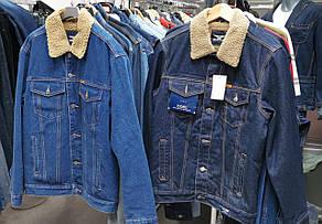 Джинсова чоловіча куртка на хутрі Montana 12061 блакитна