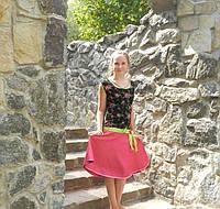 Нарядное платье на девочку из бархата