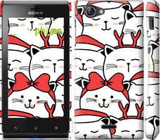 "Чехол на Sony Xperia J ST26i Милый кот ""4717c-779-535"""