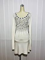 Платье-туника Lafer белое длинный рукав трикотаж, фото 1