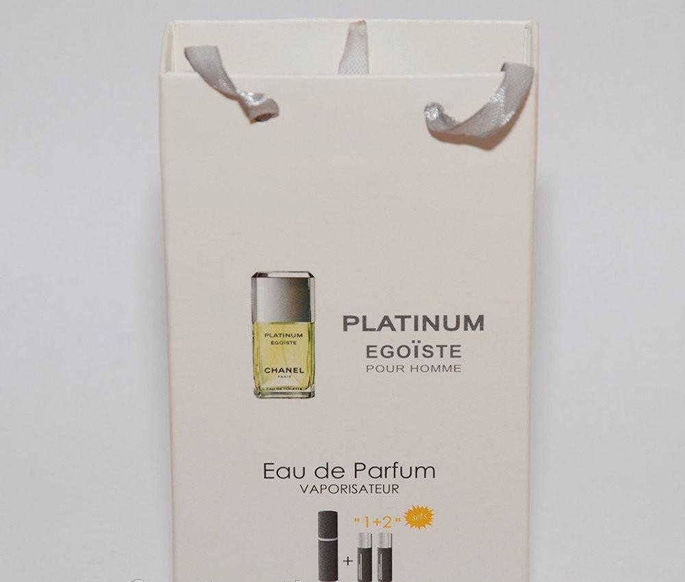 Мини парфюмерия Chanel Egoist Platinum в подарочной упаковке 3х15 ml  (реплика)