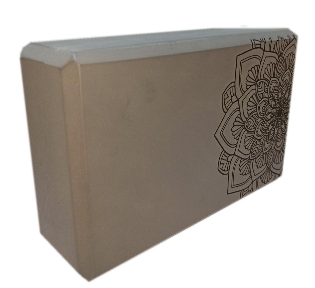 Блок для йоги, растяжки (TS 1698) Серый