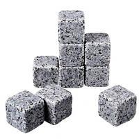 Камни для Виски с мешочком в подарочной упаковке 9 шт Whiskey Stones, фото 1