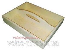 Поднос Лоток с ручкой 30х20х5/9,5 см дерево заготовка для декора (я)