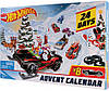 Різдвяний календар Hot Wheels 2019. Новогодний Адвент календарь Хот Вилс , Hot Wheels рождественский календарь, фото 2
