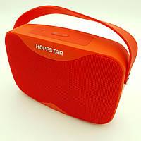 Беспроводная аккумуляторная колонка Bluetooth акустика FM MP3 AUX USB Hopestar H35 красная, фото 1