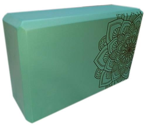 Блок для йоги, растяжки (TS 1698) Мятный, фото 2